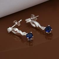 Hot Sale!!Free Shipping 925 Silver Earring,Fashion Sterling Silver Jewelry Austria Crystal Earrings SMTE474