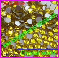 Super shiny nail crystal citrine color non hotfix rhinestones Imitation to swarov stones glue on strass size ss3-ss34 available