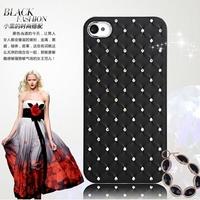 Big Clearance Beatiful Diamond Shinny Case For iPhone 4 4S Metal Aluminum Frame + PC Rhinestone Slim Hybrid Cover For Iphone4