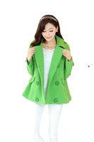 Fasot Women's Wool Winter Mid Length Fall Coats Warm Juniors Trench Overcoat  Free Shipping