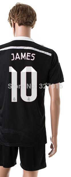 Free shipping-2014/15 Season #10 James 2nd Away jersey&short,Soccer team uniforms(China (Mainland))