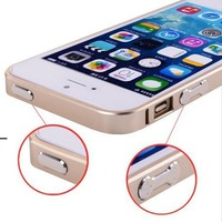 Luxury Ultra-thin  Aluminum Bumper  Metal Frame Cover For Apple iPhone 5 5S Silver Black Gold 6 Color Available