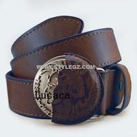 NEW Famous Brand Name Designer Cowhide Belt Men coffee Belts Handmade Vintage Genuine Leather Jeans Belt DS006#49