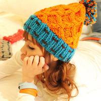 2014 Winter Warm the drop cap knitted solid caps women's fashion woolen hats
