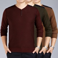 2014 new antumn formal higth quality men's soild v-neck explosions knitted sweaters formal pullover have3color