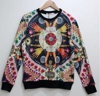 Qianshou Tide 3D Printed Sweater For Women Men Sweatshirts Tops Long Sleeve