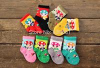 winter socks baby socks 0-1 years old Little Penguin coral velvet newborn baby socks terry socks winter