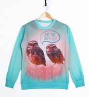 Owl Tide Fashion 3D Printed Sweater For Women Men Sweatshirts Tops Long Sleeve