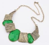 2014 Vintage Jewelry Statement Necklace 3 Colors Rhinestone Necklaces & pendants Antique Gold Retro Dress Costume Item