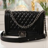 2014 New Arrival High Quality Women's handbag le boy plaid vintage chain bag leboy women's handbag bag