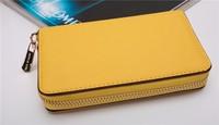 30pcs Hot  Genuine Leather original Michaeled Zipper bag Cross pattern wallet case for 5/5G/5S 4/4S wih retail box-p22