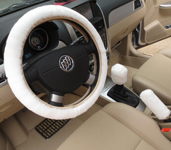 Free shipping warm plush winter car steering wheel cover imitation wool Universal auto supplies car accessories(China (Mainland))