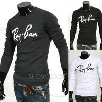 Fashion 2014 los angeles brand male sport flower cashew long sleeve tshirt mens T-shirts t shirt man hot sale