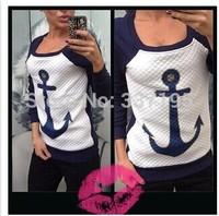new woman's fashion clothing 3d printed anchor sweatshirt long-sleeve tshirt sportswear tracksuit for women's hoodies