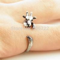 Wholesale Ring Unique Bronze Giraffe Animal Wrap Ring Hot Sale Popular Cute Giraff Rings For Woman