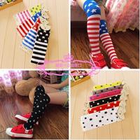 2014 autumn new striped socks with no child star girls in tube socks knee socks baby stockings 2pairs / lot