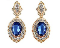 Wholesale Jewelry Fashion Luxe Rhinestone Waterdrop Earrings Designer Women Pendientes Brincos Bridal Wedding 31G 8745