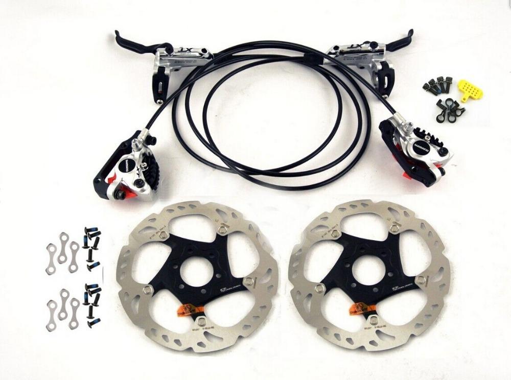 XT M785 Hydraulic Disc Brake with Metal heat sink rotor SM-RT86X2 for SHIMANO xt 785(China (Mainland))