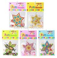 15pcs/lot High Quality 90mm Diy Fun Hexagram Perler Hama Beads Children's Toys HP008