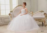Sexy Wedding Dresses Crystal Sweatheart Bridal gown Strapless White Lace Off Shouler Floor Length Vestido de noiva X039