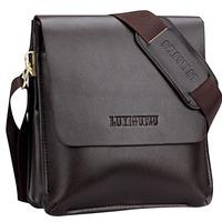 New High Quality Men's Genuine Leather Handbag Shoulder Briefcase Business Bag iPad Mini Bag