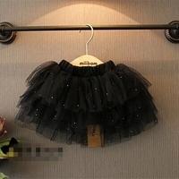 2T-8 children girl kids elegant tutu skirts evening party  fashion black color yarn baby girl tutu skirt for princess girl