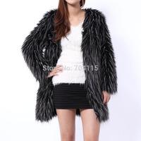 2014 winter women's luxury long-sleeve fur coat female cardigan