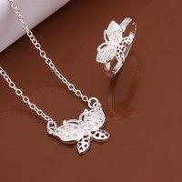 S510 925 sterling silver jewelry set, fashion jewelry set necklace ring /auhajloa gklapbsa