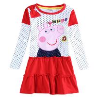 Peppa pig girls wedding dress children party evening dress peppa pig casual dress kids' princess dresses children clothing H5648