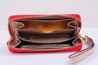 30pcs Hot  Genuine Leather original Michaeled Zipper bag Cross pattern wallet case for  5/5G/5S 4/4S wih retail box-p12
