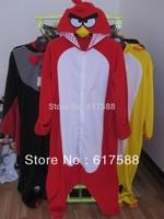 Animal Pyjamas Red Bird Adult Onesie Cosplay Costume One Piece Sleepwear Jumpsuit Footed Pajamas Free Shipping