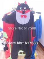2014 Unisex Polar Fleece Fashion Pajamas Pyjama Adult Anime Cosplay Costume Onesie Sleepwear Black Bat S/M/L/XL
