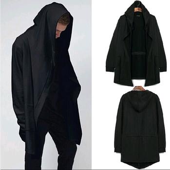 Оригинальный дизайн мужская одежда спортивные мужские толстовки и Wweatshirts мужчины кардиган мантиссы черный плащ верхняя одежда человек с капюшоном, Бесплатная