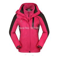 2014detachable three-in outdoor jacket fleece liner waterproof hiking clothing fleece clothing
