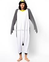 Animal Gray Grey Penguin Adult Unisex Onesie One Piece Cosplay Winter Spring Costume Cos Party Pajamas Halloween Dresses