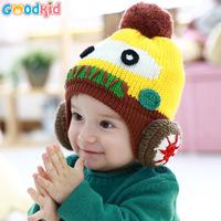High Quality baby winter warm earmuffs hats & caps with velvet baby girls boys cartoon robot warm earmuffs  hats winter caps