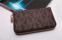 30pcs Hot  Genuine Leather original Michaeled Zipper bag Cross pattern wallet case for 5/5G/5S 4/4S wih retail box-p19