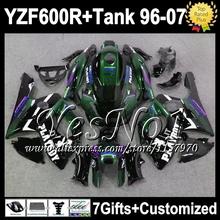 7 подарок для YAMAHA YZF 600R 600 PALYBOY 96 — 07 YZF600 R QS98 YZF600R 96 97 98 99 темно-зеленый черный 00 01 02 03 04 05 06 07 зализа