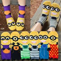 Crazsox special offer good quality brand socks fashion cute socks cute little Minions cartoon socks