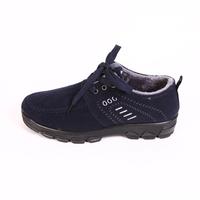 Men's Winter Shoes Mens Plush Warm Winter Boots Lace Up Fur Fashion Shoes Brown Blue Black 2014 New