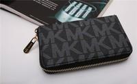 10pcs Hot  Genuine Leather original Michaeled Zipper bag Cross pattern wallet case for 5/5G/5S 4/4S wih retail box-p15