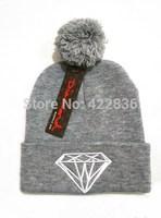 Diamond Beanies hats hip hop cheap men women adjustable winter knitted caps Free shipping