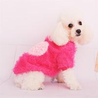 Dog Clothes Thicked Warm Corn Grain Love Vest  Clothes Pet Dog Clothes  Dog Clothing  Free Shipping  1PCS/LOT