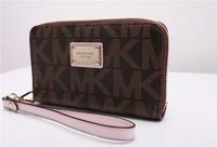 30pcs Hot  Genuine Leather original Michaeled Zipper bag Cross pattern wallet case for 5/5G/5S 4/4S wih retail box-p16