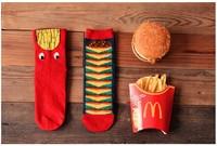 Cute hamburger high top cartoon socks special offer good quality brand fashion women socks