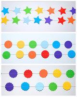 12 Feets Customized Rainbow paper garland,Heart ,Star , Heart  Circle garland, Nursery decor