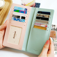 99 Time-hot sell new arrival Korea fashion lovely crown design slim wallet for women,sweet clutch purses,leather passport holder