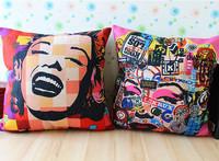 Pope Marylin Monroe Linen cotton pillow cover/ cushion cover / sofa cushion office nap cushion/cushion/ pillow 45cm*45cm