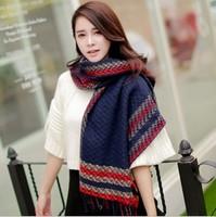 New 2014 Women Fashion Winter Scarf Cashmere Scarf Foulard Long Pashmina Desigual Keep Warm Scarves Free Shipping