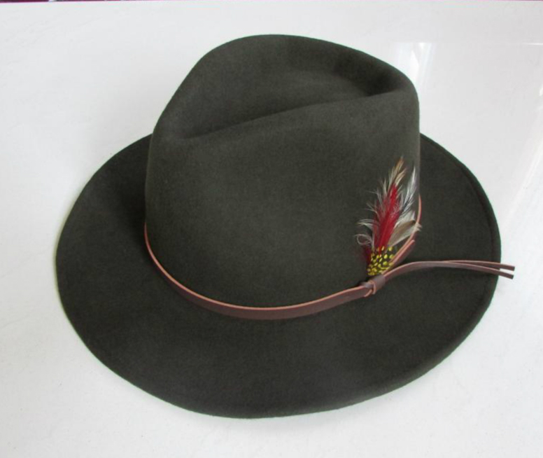 Pure wool quality wrinkle-free riding hat cowboy hat equestrian cap lihua fedoras male women's hat(China (Mainland))